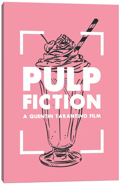 Pulp Fiction Vintage Poster  Canvas Art Print