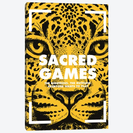 Sacred Games Alternative Poster  Canvas Print #PTE199} by Popate Canvas Art