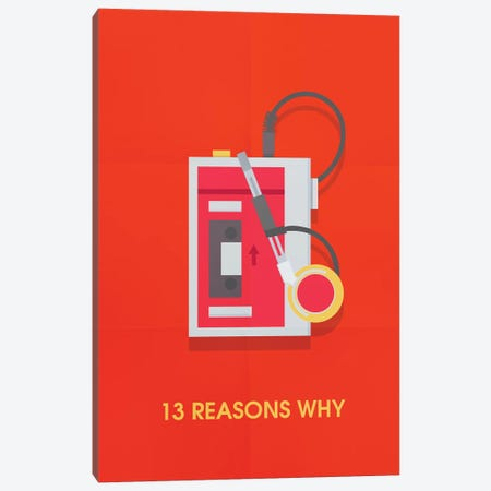 13 Reasons Why Minimalist Poster Canvas Print #PTE1} by Popate Canvas Art Print