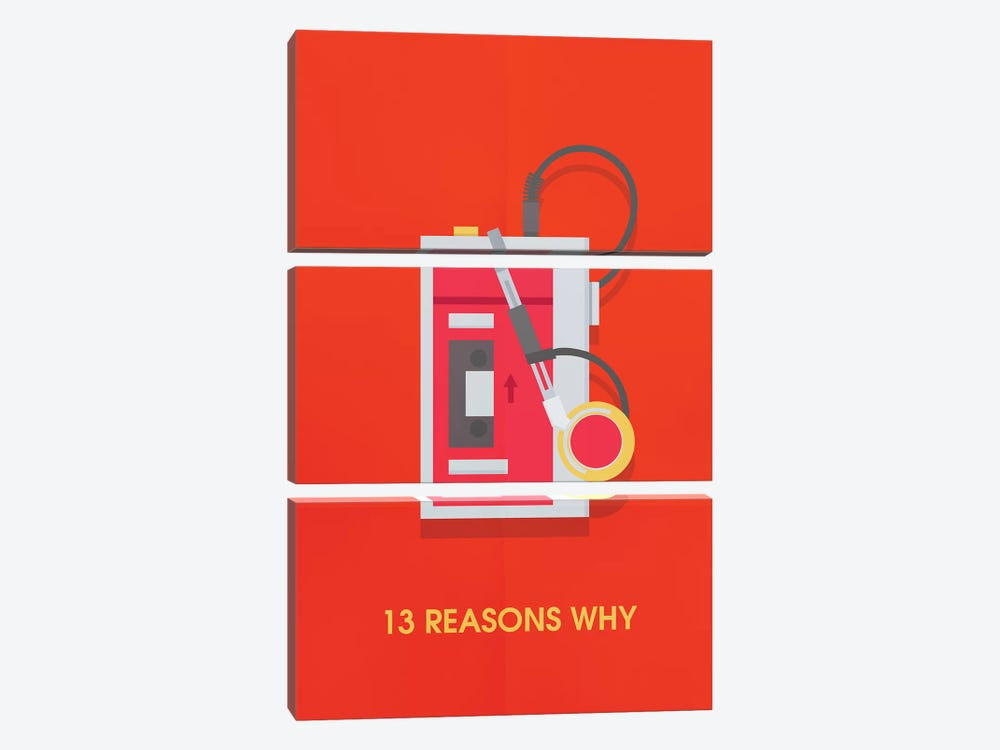 13 Reasons Why Minimalist Poster by Popate 3-piece Canvas Art Print