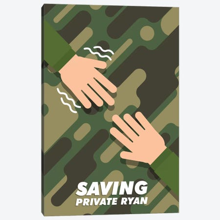 Saving Private Ryan Minimalist Poster  Canvas Print #PTE200} by Popate Canvas Artwork