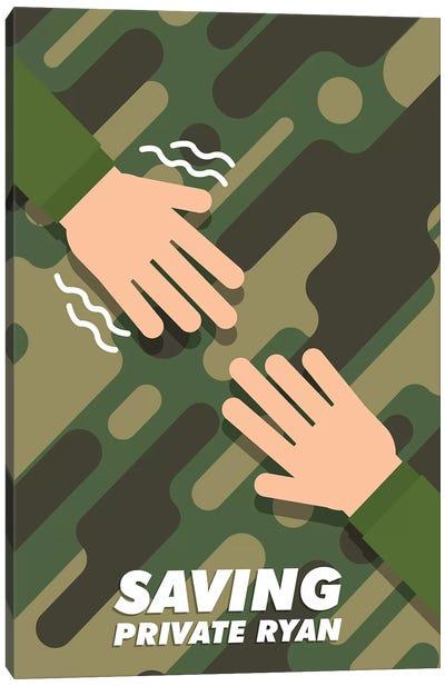 Saving Private Ryan Minimalist Poster  Canvas Art Print