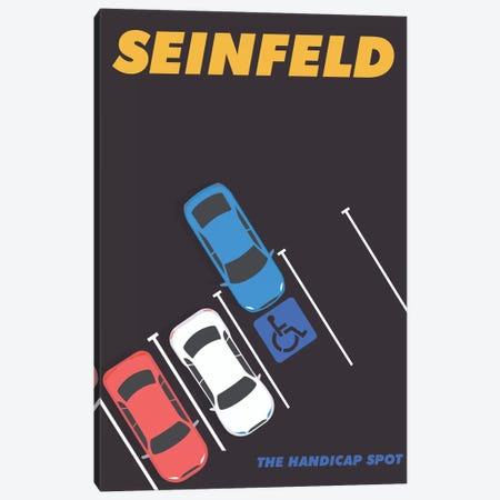 Seinfeld Alternative Minimalist Poster - The Handicap Spot  Canvas Print #PTE201} by Popate Canvas Wall Art