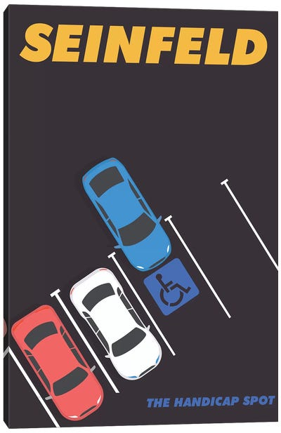Seinfeld Alternative Minimalist Poster - The Handicap Spot  Canvas Art Print