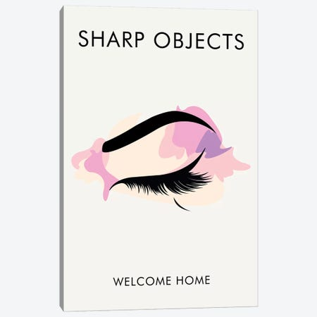 Sharp Objects Minimalist Poster  Canvas Print #PTE203} by Popate Canvas Artwork