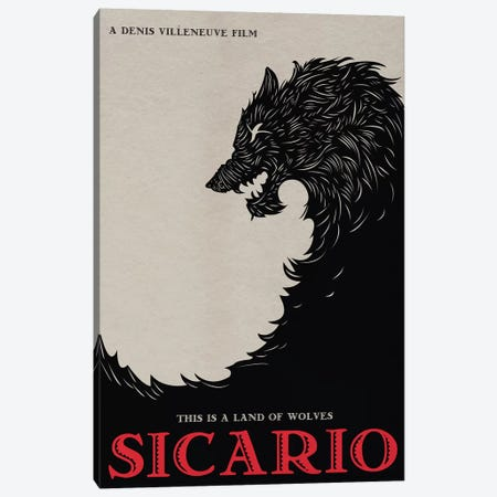 Sicario Alternative Minimalist Poster  Canvas Print #PTE204} by Popate Art Print