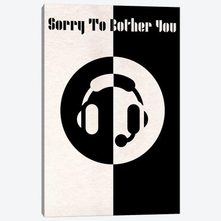Sorry To Bother You Vintage Bauhaus Poster  Canvas Print #PTE205} by Popate Canvas Print