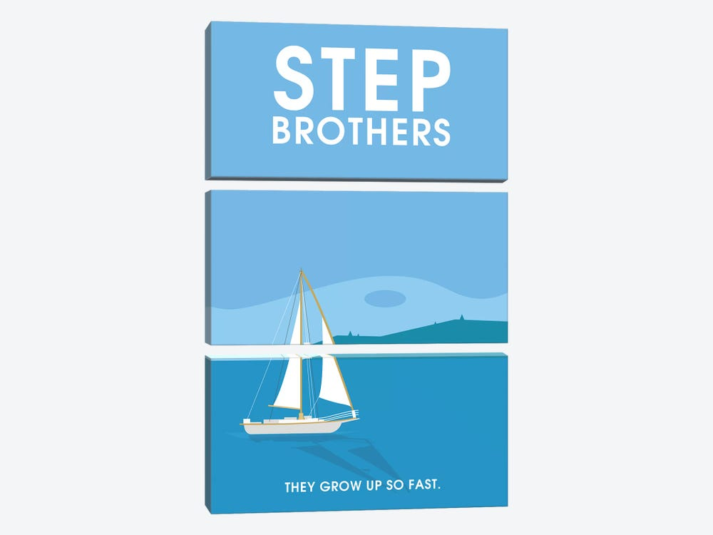 Step Brothers Minimalist Poster  by Popate 3-piece Canvas Wall Art