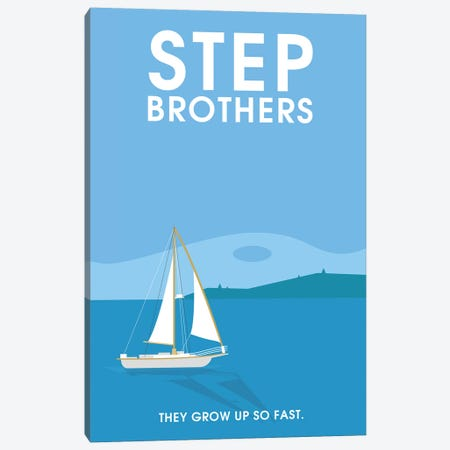 Step Brothers Minimalist Poster  Canvas Print #PTE207} by Popate Canvas Print