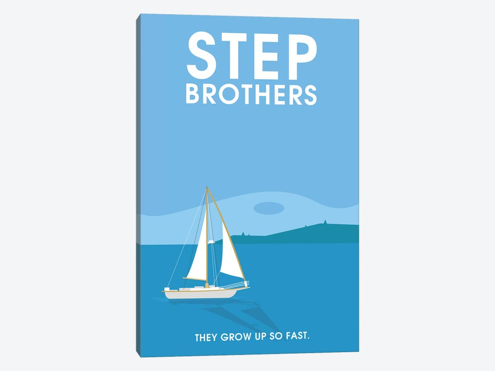 Step Brothers Minimalist Poster  by Popate 1-piece Canvas Artwork