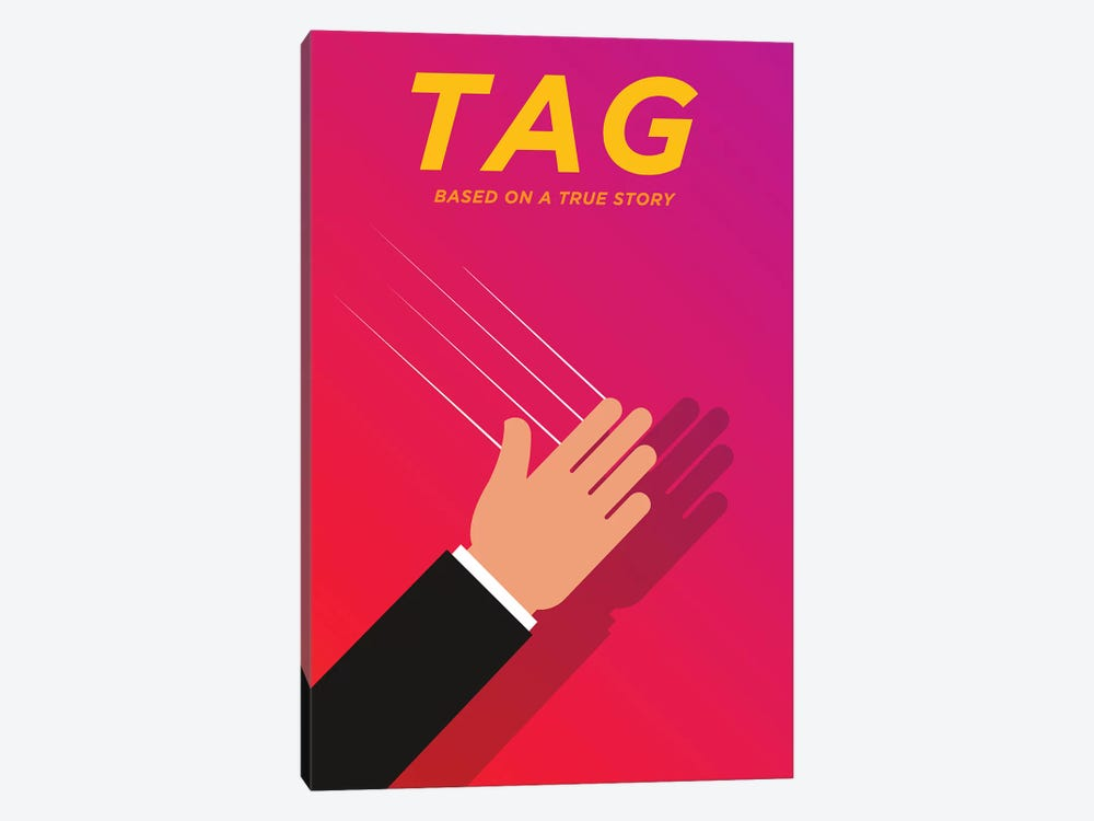 Tag Minimalist Poster  by Popate 1-piece Canvas Print