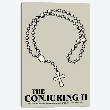 The Conjuring II Minimalist Poster  Canvas Print #PTE209} by Popate Canvas Wall Art