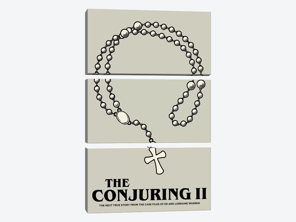The Conjuring II Minimalist Poster  by Popate 3-piece Canvas Artwork