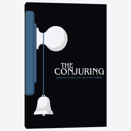 The Conjuring Minimalist Poster  Canvas Print #PTE210} by Popate Art Print