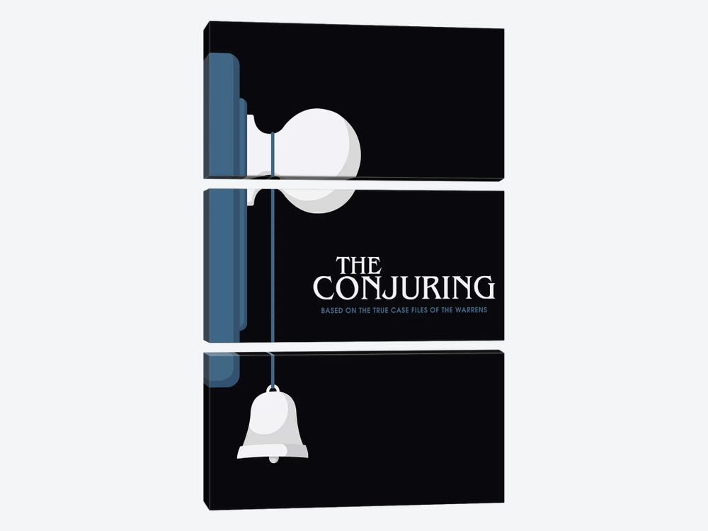 The Conjuring Minimalist Poster  by Popate 3-piece Canvas Wall Art