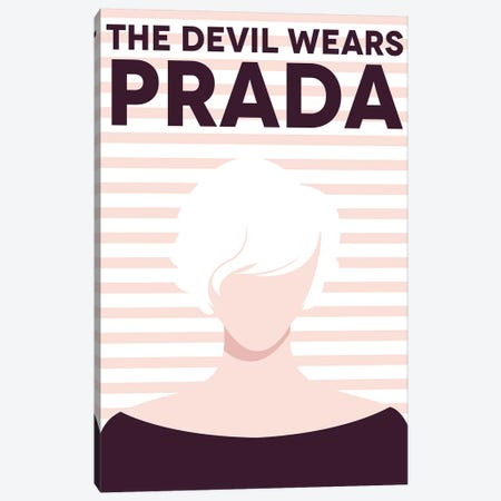 The Devil Wears Prada Minimalist Poster  Canvas Print #PTE211} by Popate Art Print