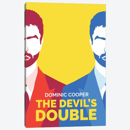 The Devil's Double Minimalist Poster  Canvas Print #PTE212} by Popate Canvas Print