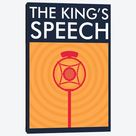 The King's Speech Minimalist Poster  Canvas Print #PTE215} by Popate Canvas Art
