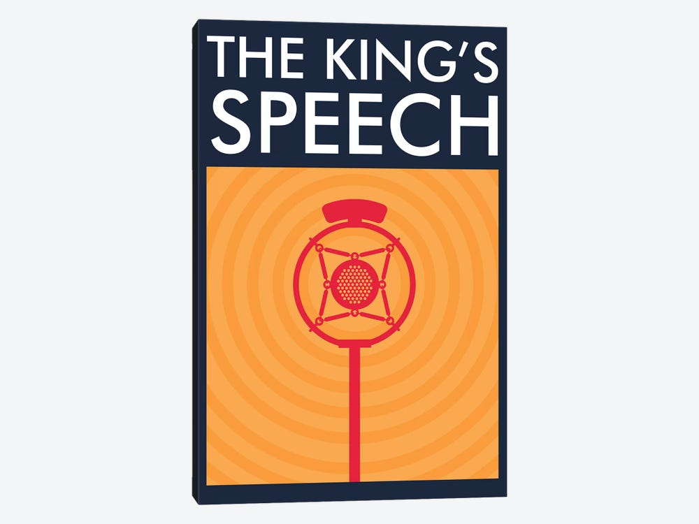 The King's Speech Minimalist Poster  by Popate 1-piece Canvas Print