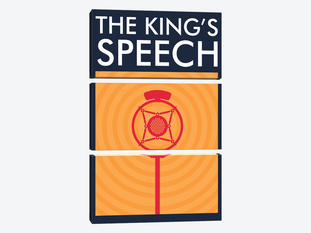 The King's Speech Minimalist Poster  by Popate 3-piece Art Print