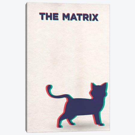 The Matrix Alternative Poster -Deja Vu  Canvas Print #PTE216} by Popate Canvas Artwork