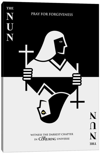 The Nun Minimalist Poster - Card Trick  Canvas Art Print