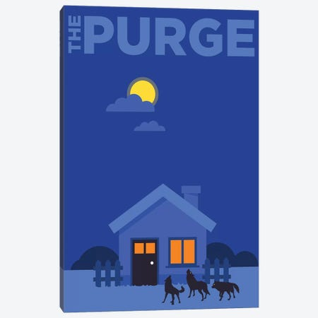 The Purge Minimalist Poster  Canvas Print #PTE218} by Popate Canvas Print