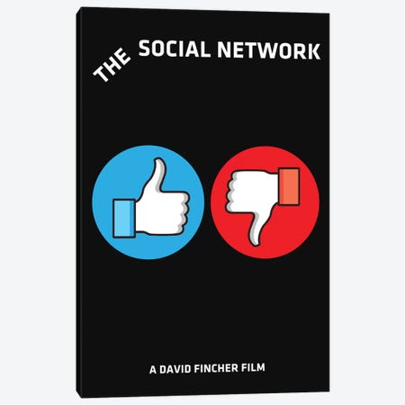 The Social Network Alternative Minimalist Poster  Canvas Print #PTE219} by Popate Canvas Art Print