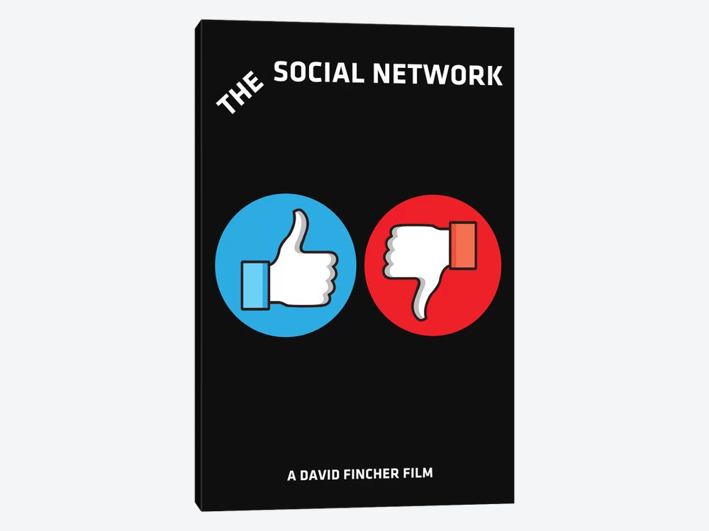 The Social Network Alternative Minimalist Poster  by Popate 1-piece Canvas Art Print