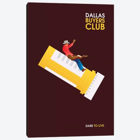 Dallas Buyers Club Minimalist Poster Canvas Print #PTE21} by Popate Canvas Art