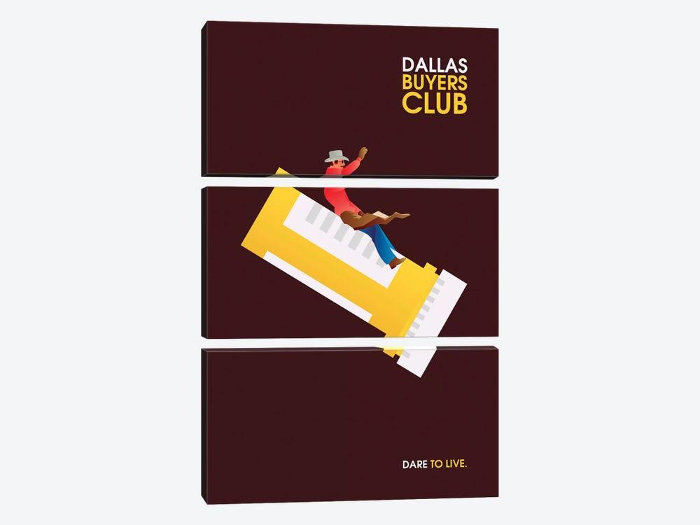 Dallas Buyers Club Minimalist Poster by Popate 3-piece Art Print