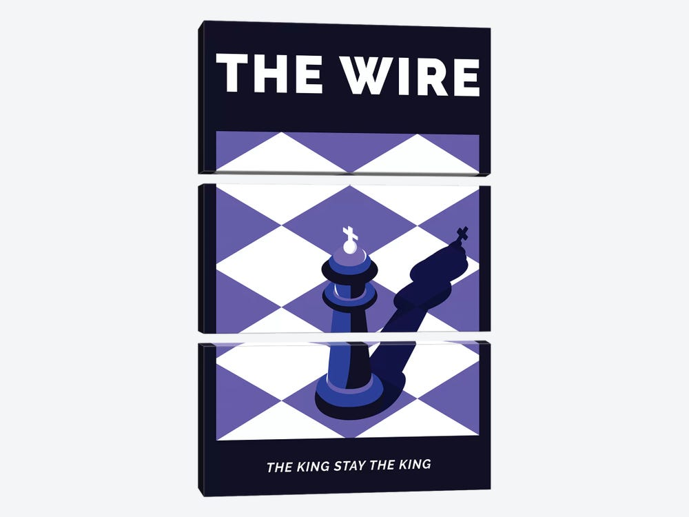 The Wire Alternative Poster - The King Stay The King  by Popate 3-piece Canvas Wall Art