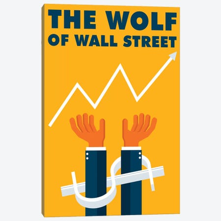 The Wolf of Wall Street Minimalist Poster  3-Piece Canvas #PTE222} by Popate Canvas Artwork