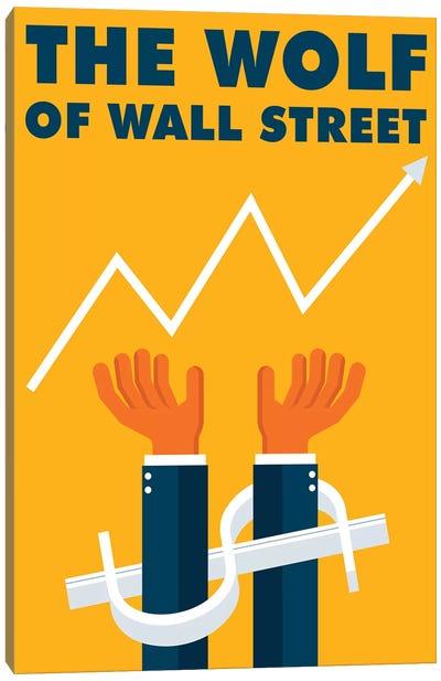 The Wolf of Wall Street Minimalist Poster  Canvas Art Print