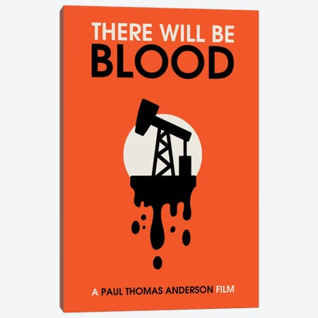There Will Be Blood vintage style minimalist poster  Canvas Print #PTE223} by Popate Canvas Artwork