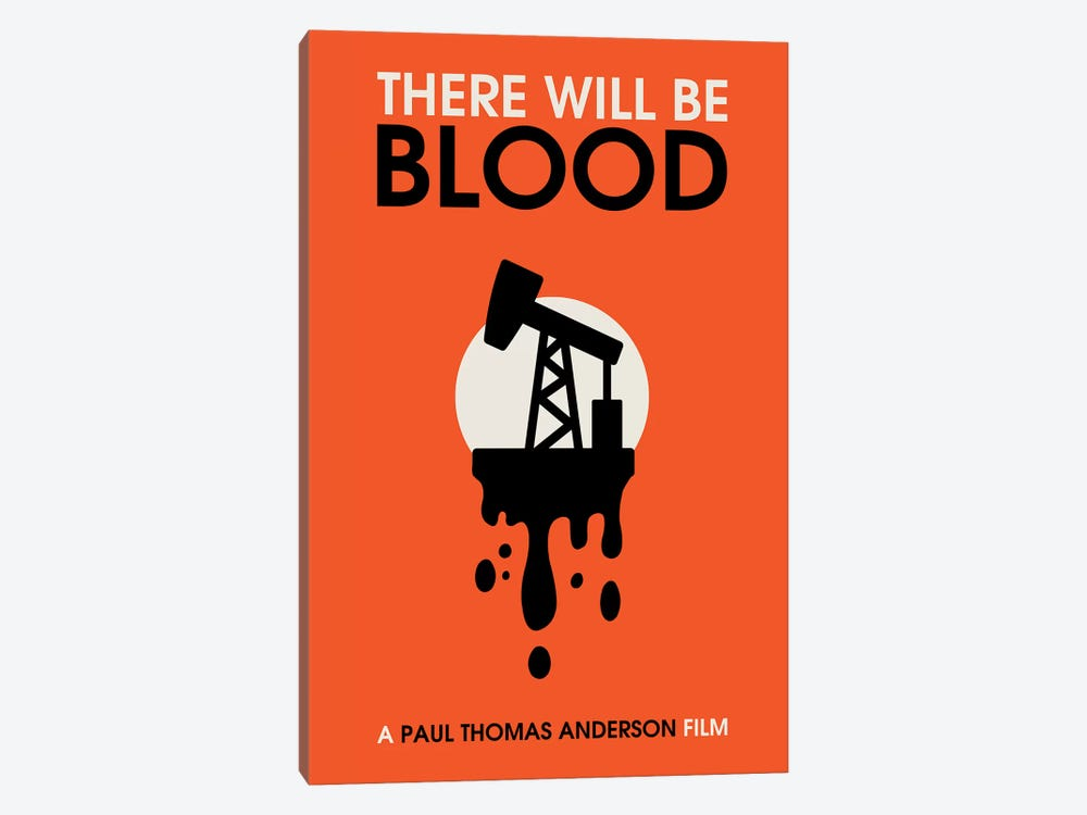 There Will Be Blood vintage style minimalist poster  by Popate 1-piece Canvas Art