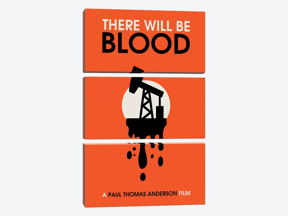 There Will Be Blood vintage style minimalist poster  by Popate 3-piece Canvas Artwork