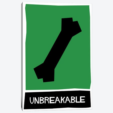 Unbreakable Alternative Vintage Saul Bass Poster  Canvas Print #PTE224} by Popate Art Print