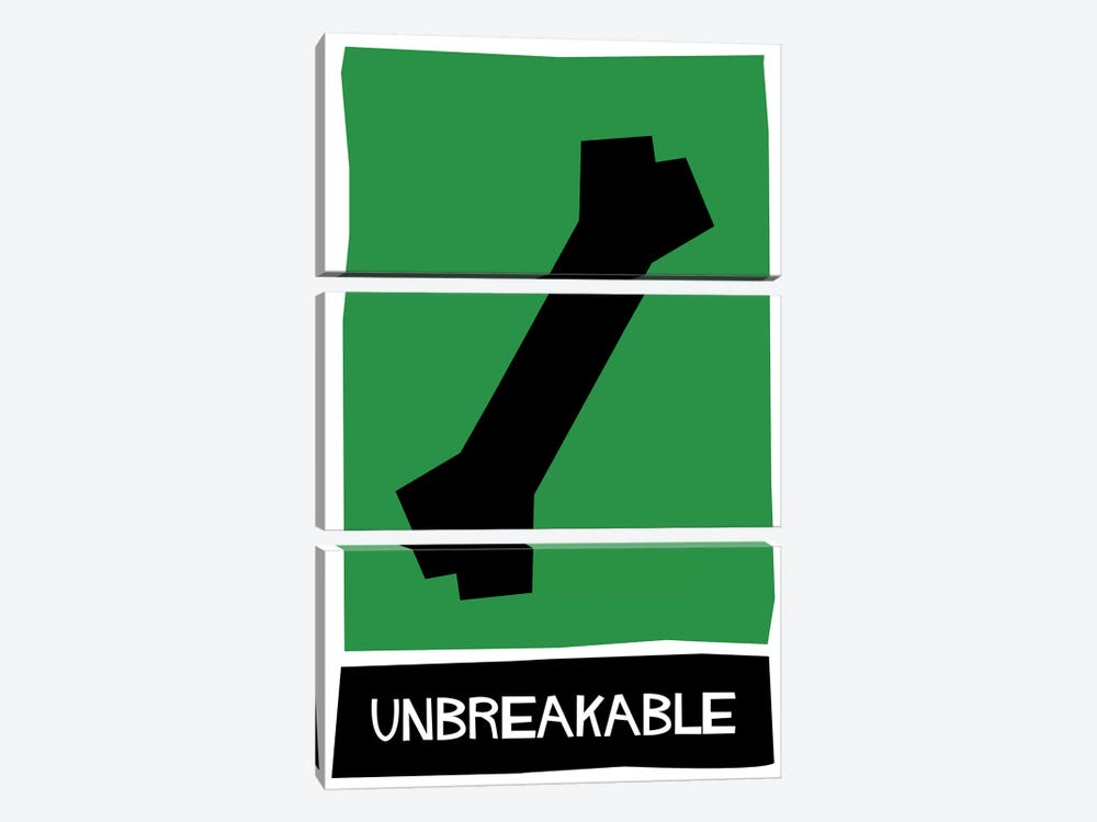 Unbreakable Alternative Vintage Saul Bass Poster  by Popate 3-piece Canvas Print