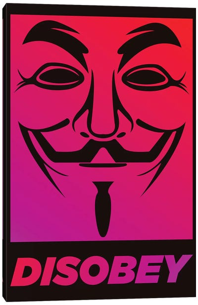 V for Vendetta - Disobey  Canvas Art Print