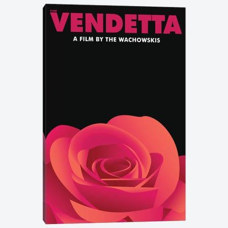 V for Vendetta Minimalist Poster - Violet Carson  Canvas Print #PTE226} by Popate Art Print