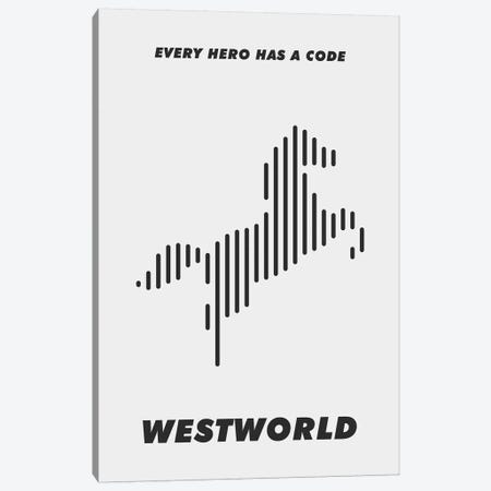 Westworld Minimalist Poster - Piano #1  3-Piece Canvas #PTE227} by Popate Canvas Art Print