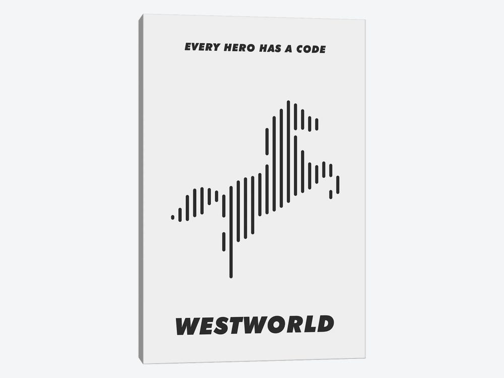 Westworld Minimalist Poster - Piano #1  by Popate 1-piece Canvas Artwork