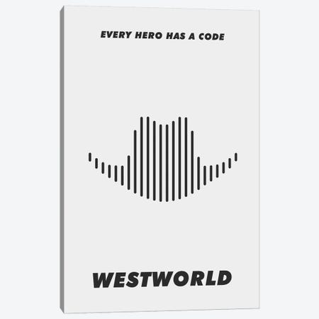 Westworld Minimalist Poster - Piano #2  Canvas Print #PTE228} by Popate Canvas Wall Art