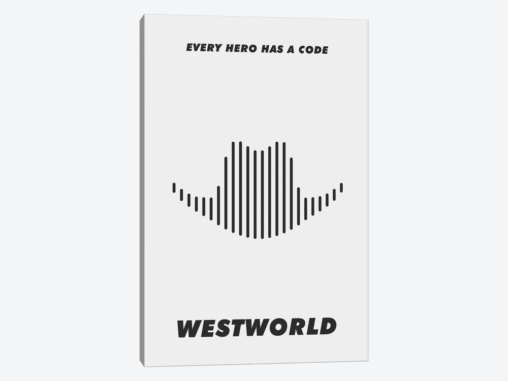 Westworld Minimalist Poster - Piano #2  by Popate 1-piece Canvas Print
