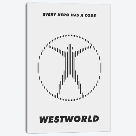 Westworld Minimalist Poster - Piano #3  Canvas Print #PTE229} by Popate Canvas Wall Art