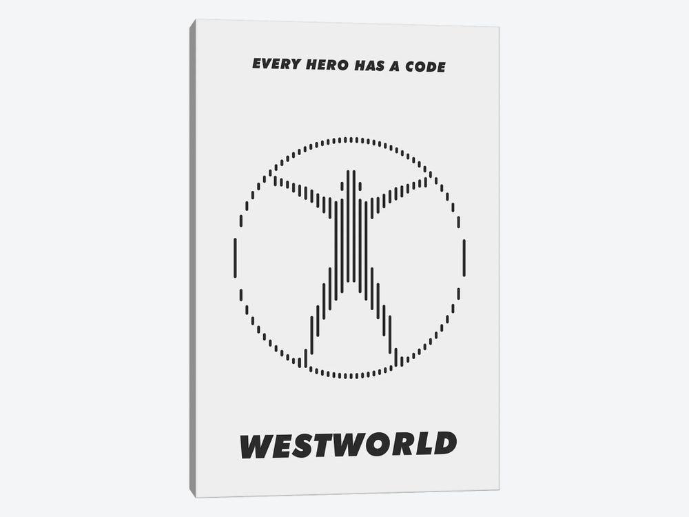 Westworld Minimalist Poster - Piano #3  by Popate 1-piece Canvas Wall Art