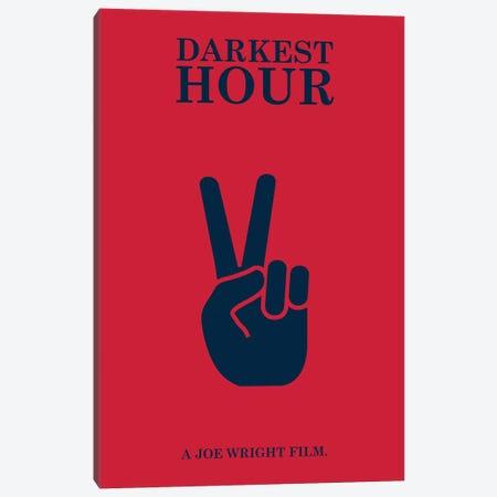 Darkest Hour Minimalist Poster Canvas Print #PTE22} by Popate Canvas Art