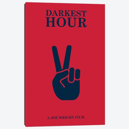 Darkest Hour Minimalist Poster Canvas Print #PTE22} by Popate Canvas Art