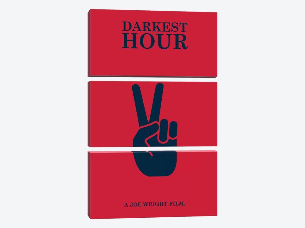 Darkest Hour Minimalist Poster by Popate 3-piece Canvas Artwork